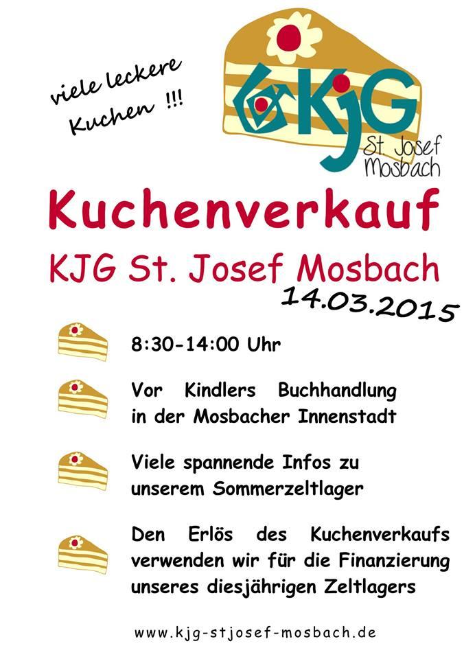 Kuchenverkauf am 14 März in der Mosbacher Fußgängerzone